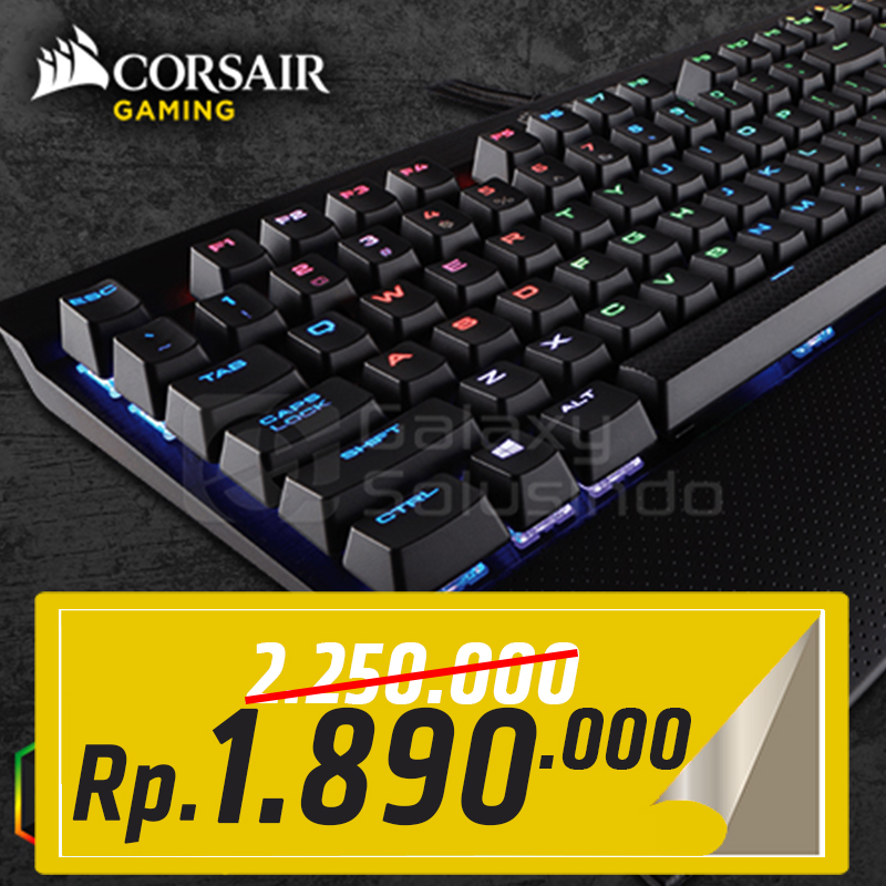 Corsair K70 RAPIDFIRE RGB Mechanical Gaming Keyboard - Cherry MX RGB Speed