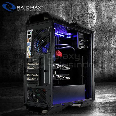 RAIDMAX MONSTER II SE - Tempered glass side panel