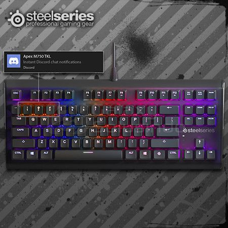 Steelseries Apex M750 TKL Aluminum Core Mechanical Esports - SS QX2 Linear Switch