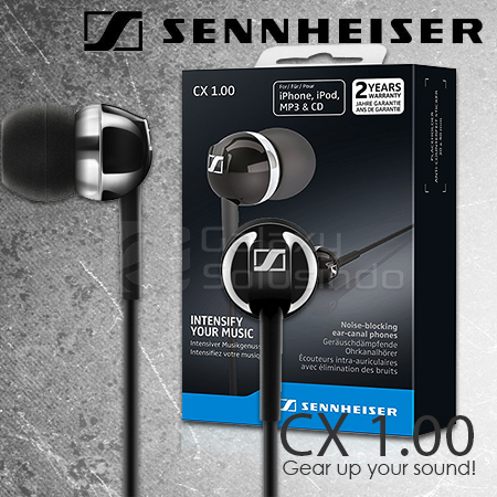 Sennheiser CX 1.00 Earbuds Bass-Driven Sound