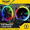Armaggeddon INFINEON LOOP RGB kit - 3x Single Ring Fan + Controller