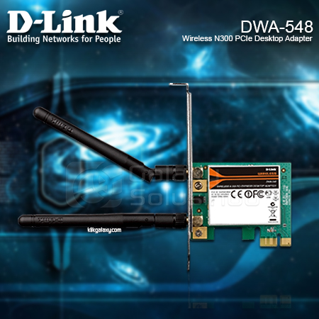 D-LINK DWA-548 Wireless N300 PCIe Desktop Adapter