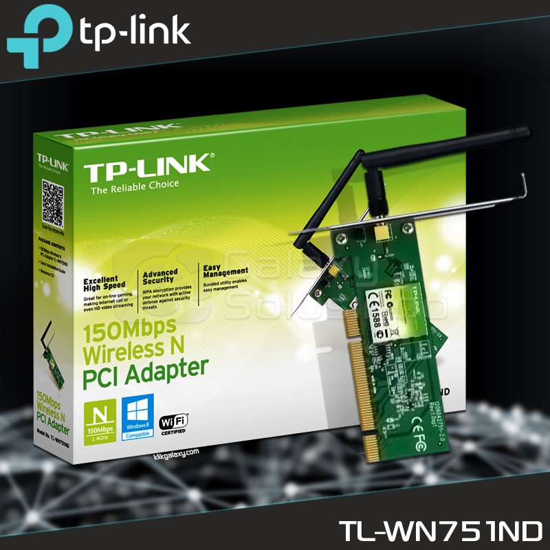 TP-LINK PCI WIFI Adapter TL-WN751ND 54Mbps
