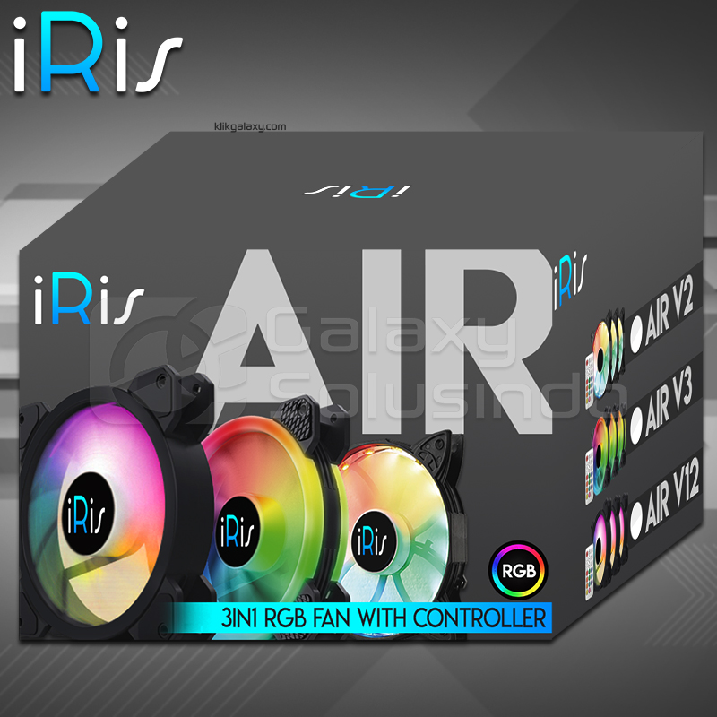 iRis AIR V3 RGB 3Pack (DOUBLE RING) + CONTROLLER + REMOTE