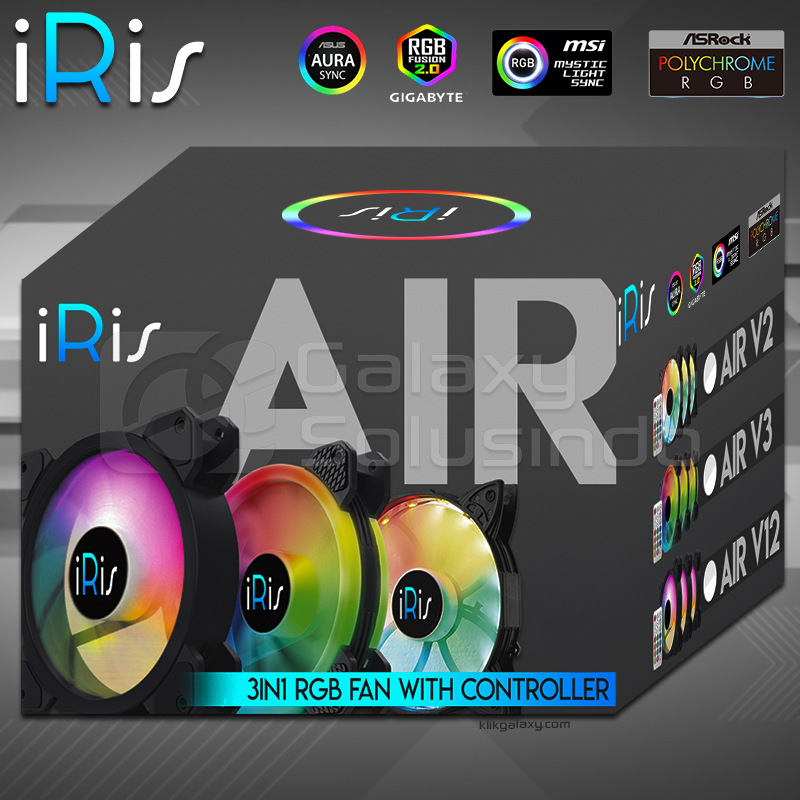 iRis AIR V5 RGB 3Pack (DOUBLE RING) + CONTROLLER + REMOTE - SYNC Ready