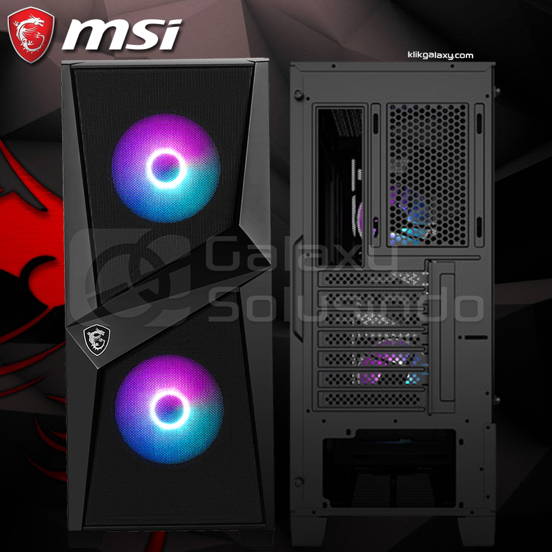 MSI MAG FORGE 100R Tempered Glass Gaming Case