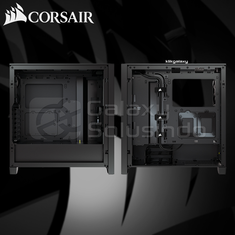 Corsair 4000D Tempered Glass Mid-Tower ATX Gaming Case - Black
