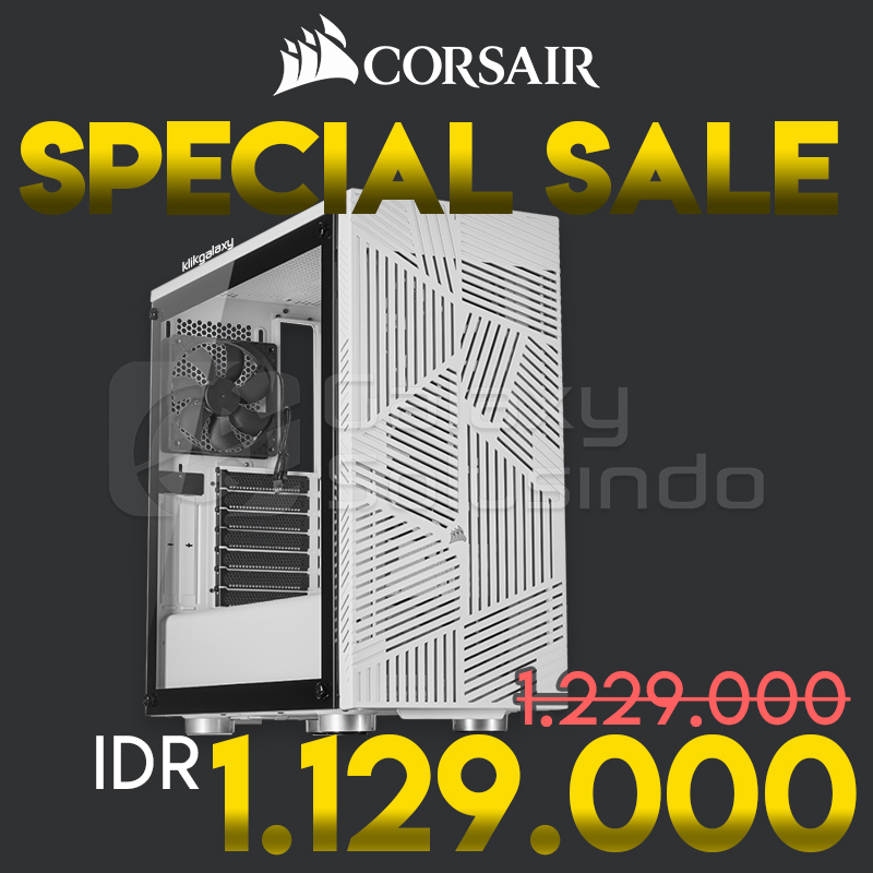 Corsair Carbide Series 275R AIRFLOW Tempered Glass Gaming Case - White - special sale