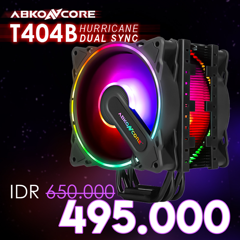 ABKONCORE COOLSTORM T404B HURRICANE DUAL SYNC CPU Cooler