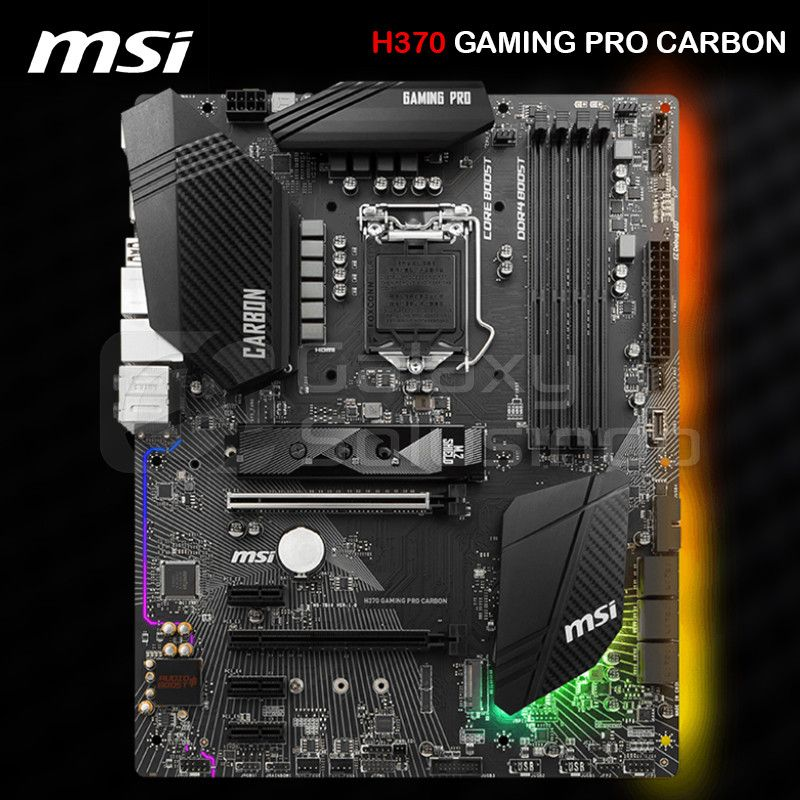 MSI H370 GAMING PRO CARBON - CoffeeLake