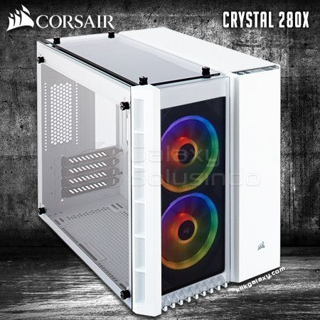 Corsair Crystal 280X RGB Tempered Glass Gaming Case - White