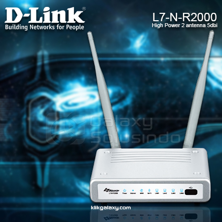 D-LINK L7-N-R2000 N300 High Power Wireless Router