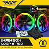 Armaggeddon INFINEON LOOP II RGB kit - 3x Double Ring Fan + Controller