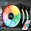 iRis AIR V2 RGB 3Pack + CONTROLLER + REMOTE - Fan Case