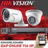 Paket CCTV HIKVISION 4 Channel 2 Camera FHD 1080p 2mp