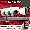 Paket CCTV HIKVISION COLORVU 8 Channel 4 Camera FHD 1080p 2mp