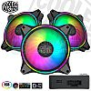 Cooler Master MasterFan MF120 Halo 3 in 1 ARGB Fan - Black