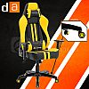 Digital Alliance Racing X Empire Gaming Chair - Yellow