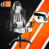 Digital Alliance Racing X Glaciers Gaming Chair - Gray White